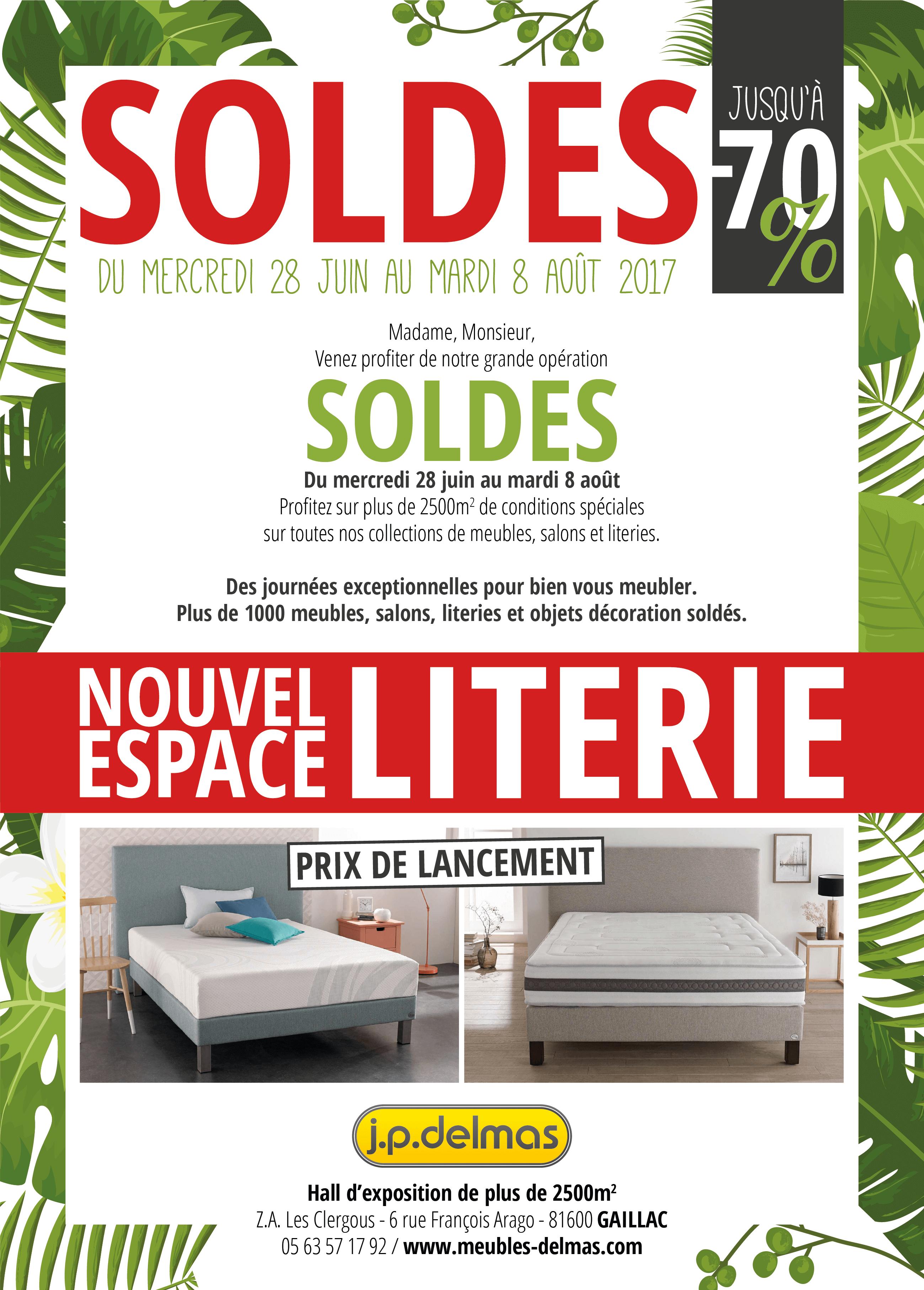 Flyer Soldes Été 2017 (recto) Meubles Delmas